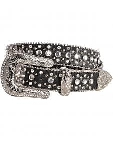 Red Ranch Croc Print Rhinestone Embellished Belt