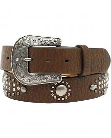 "Nocona Women's 1/ 1/2"" Nailhead Rhinestone Design Belt"