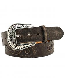 Nocona Women's Scroll Large Round Concho Belt