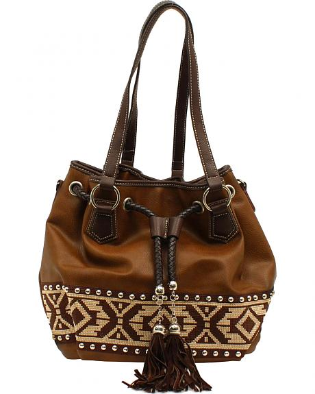 Blazin Roxx Shania Collection Aztec Ribbon Bucket Bag