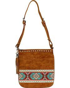 Blazin Roxx Shania Collection Aztec Ribbon Messenger Bag