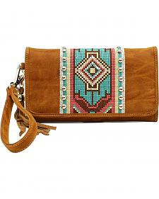 Blazin Roxx Shania Collection Aztec Ribbon Clutch