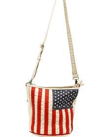 Blazin Roxx Women's Gun Toting American Slim Bucket Bag