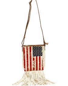 Blazin Roxx Women's Americana Fringe Messenger Bag