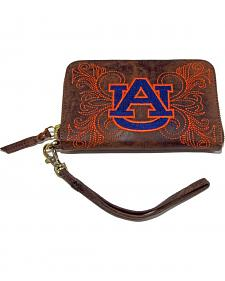 Gameday Boots Auburn University Leather Wristlet
