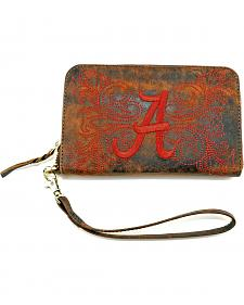 Gameday Boots University of Alabama Leather Wristlet