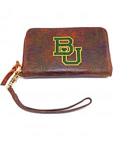 Gameday Boots Baylor University Leather Wristlet