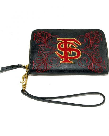 Gameday Boots Florida State University Leather Wristlet
