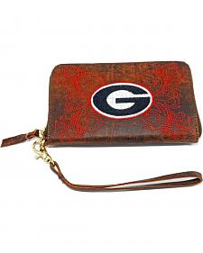 Gameday Boots University of Georgia Leather Wristlet