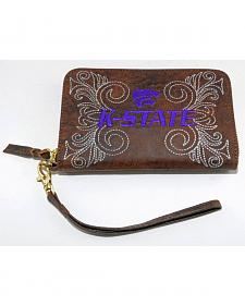 Gameday Boots Kansas State University Leather Wristlet