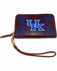 Gameday Boots Kentucky University Leather Wristlet