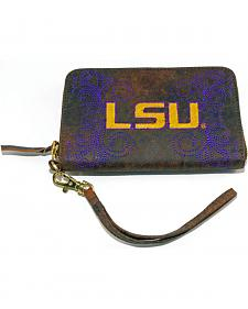 Gameday Boots Louisiana State University Leather Wristlet