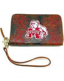 Gameday Boots Mississippi State University Leather Wristlet