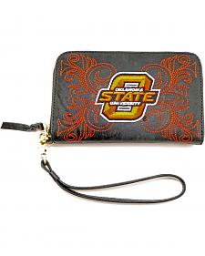 Gameday Boots Oklahoma State University Leather Wristlet