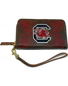 Gameday Boots University of South Carolina Leather Wristlet