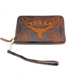 Gameday Boots University of Texas Leather Wristlet