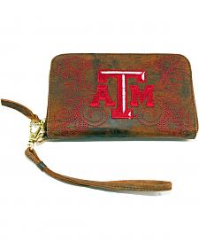Gameday Boots Texas A&M University Leather Wristlet