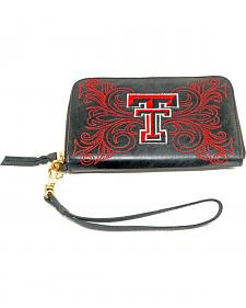 Gameday Boots Texas Tech University Leather Wristlet