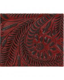 American West Boyfriend Ladies Crimson Bi-Fold Wallet
