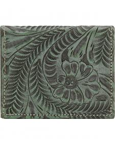 American West Boyfriend Ladies Turquoise Bi-Fold Wallet