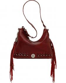 American West River Ranch Slouch Garnet Zip Top Shoulder Bag