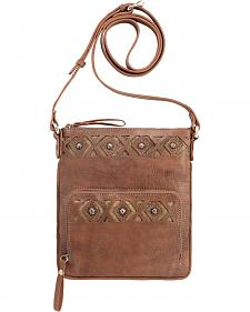 American West Moon Dancer Rose Crossbody Bag