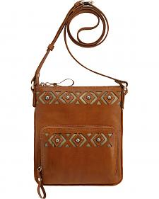 American West Moon Dancer Golden Tan Crossbody Bag