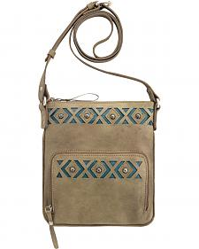 American West Moon Dancer Sandy Brown Crossbody Bag