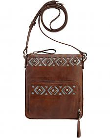 American West Moon Dancer Chestnut Brown Crossbody Bag