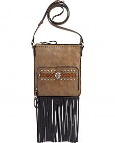 American West Moon Dancer Rustic Brown Crossbody Bag