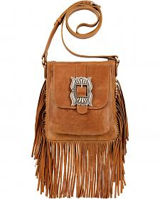 American West Eagle Golden Tan Crossbody Bag