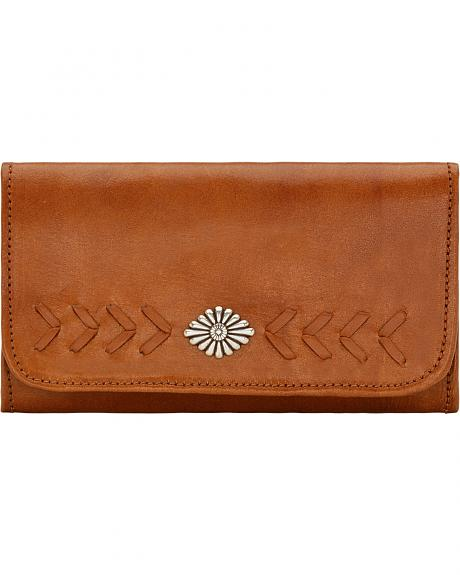American West Mohave Canyon Ladies' Golden Tan Tri-Fold Wallet