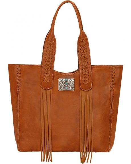 American West Golden Tan Mojave Canyon Large Zip Top Tote