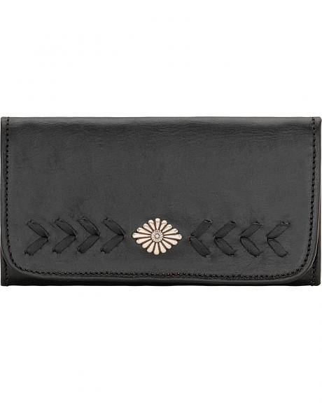 American West Mohave Canyon Ladies' Black Tri-Fold Wallet