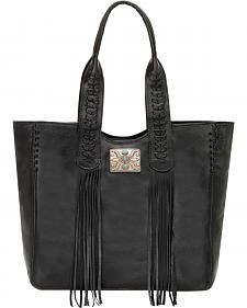 American West Black Mojave Canyon Large Zip Top Tote