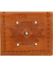 American West Golden Tan Boyfriend Ladies Bi-Fold Wallet