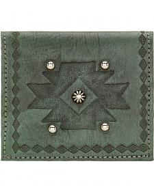 American West Turquoise Boyfriend Ladies Soft Bi-Fold Wallet