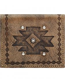 American West Rustic Brown Boyfriend Ladies Soft Bi-Fold Wallet