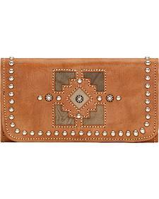 American West Annie's Secret Golden Tan Tri-Fold Wallet