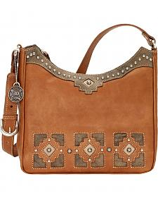 American West Annie's Secret Collection Golden Tan Shoulder Bag