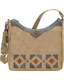 American West Annie's Secret Collection Sandy Brown Shoulder Bag