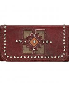 American West Annie's Secret Crimson Tri-Fold Wallet