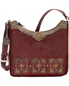 American West Annie's Secret Zip Top Secret Compartment Shoulder Bag