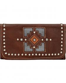 American West Annie's Secret Chestnut Brown Tri-Fold Wallet
