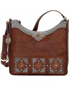 American West Annie's Secret Zip-Top Hidden Compartment Shoulder Bag