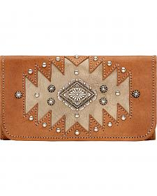 American West Golden Tan Annie's Secret Tri-Fold Wallet