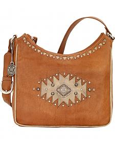 American West Annie's Secret Golden Tan Southwest Hidden Compartment Shoulder Bag