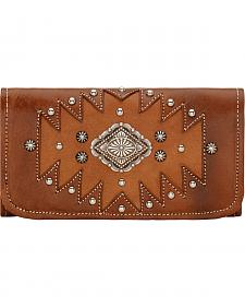 American West Antique Tan Annie's Secret Tri-Fold Wallet