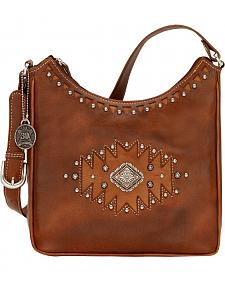 American West Annie's Secret Antique Tan Southwest Hidden Compartment Shoulder Bag