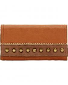 American West Bandana Oak Creek Golden Tan Flap Wallet